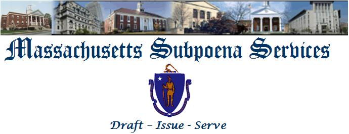 Subpoenas issued and served throughout Massachusetts
